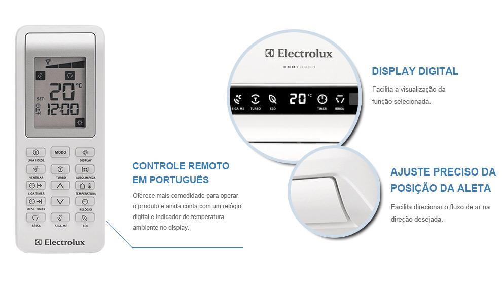 AR CONDICIONADO 12000 BTUs 220v FRIO ELECTROLUX