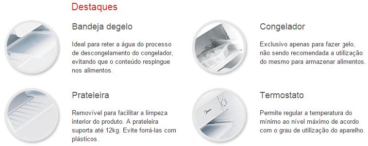 FRIGOBAR BRANCO MEDIA 45L Premium White